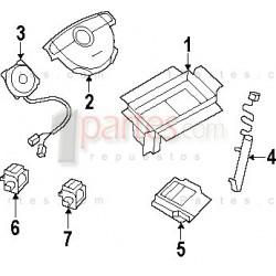 Airbag - Sensor de impacto derecho (copiloto)